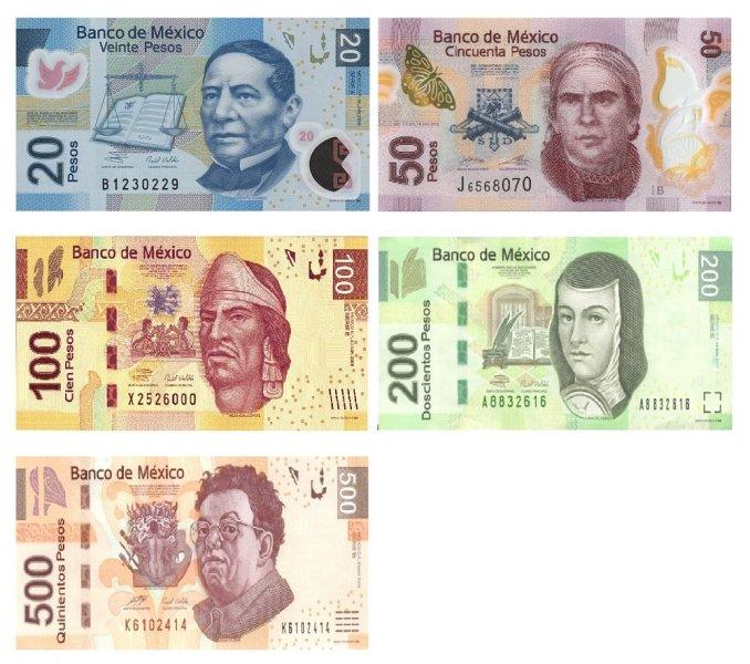 Mexikanische Geldscheine