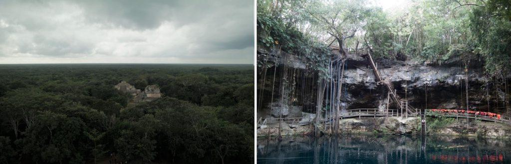 Die Pyramide und Cenote von Ek Balam